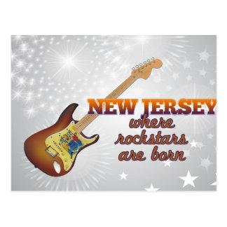 Rockstars sind in New-Jersey geboren Postkarte