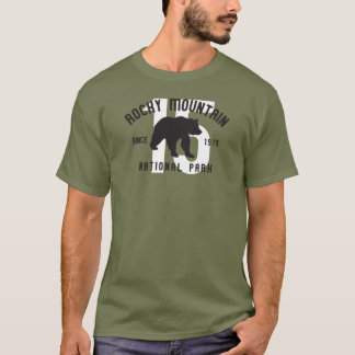 Rocky Mountain Nationalpark-Colorado-Bär T-Shirt