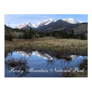 Rocky Mountain Nationalpark-Postkarte Postkarte
