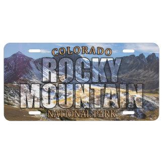 Rocky Mountain Nationalpark-vorderes US Nummernschild