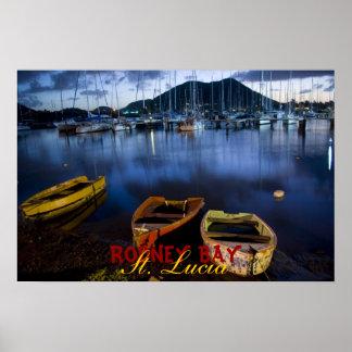 Rodney-Bucht, St Lucia Poster