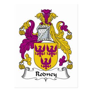 Rodney-Familienwappen Postkarten