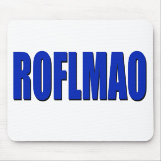ROFLMAO-blau Mousepad