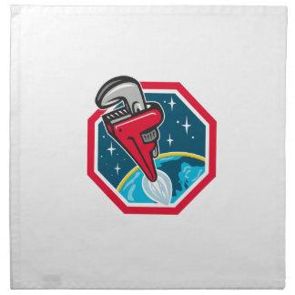 Rohr-Schlüssel-Rocket-Zusatzstartendes Stoffserviette