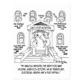Rohr-Überbrückung Postkarten