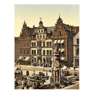 Rolands Monument, Bremen, Deutschland seltenes Postkarte