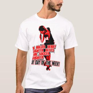 Roler Derby Schwarzes T-Shirt