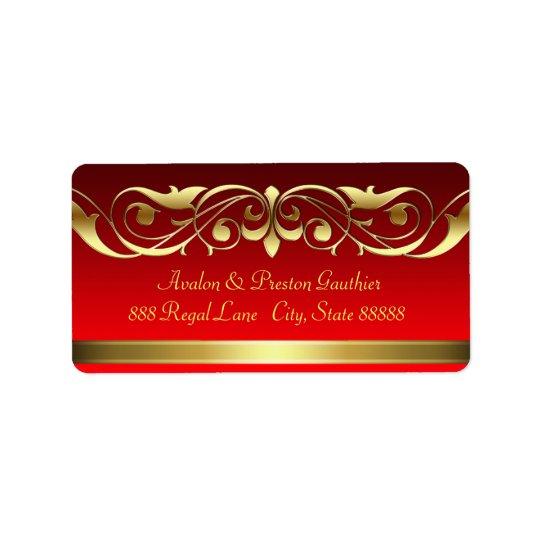 Rolle-Adressen-Etiketten Großherzogin-rote Gold Adress Aufkleber