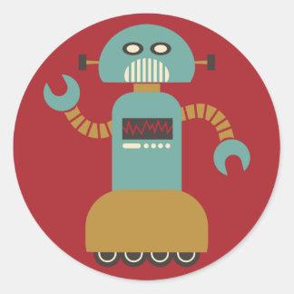 Rollen-Roboter-runder Aufkleber
