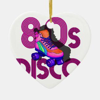 Rollen-Skater-80er Keramik Herz-Ornament