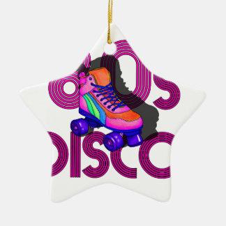 Rollen-Skater-80er Keramik Stern-Ornament