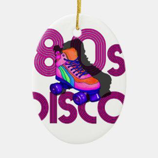 Rollen-Skater-80er Ovales Keramik Ornament