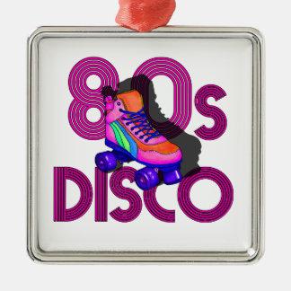 Rollen-Skater-80er Quadratisches Silberfarbenes Ornament