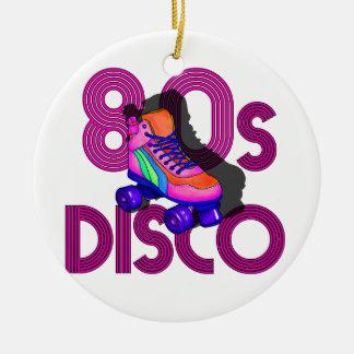 Rollen-Skater-80er Rundes Keramik Ornament