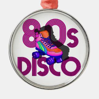 Rollen-Skater-80er Silbernes Ornament