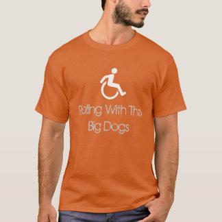 """""""Rollend mit großen Hunde"""" T - Shirt"""