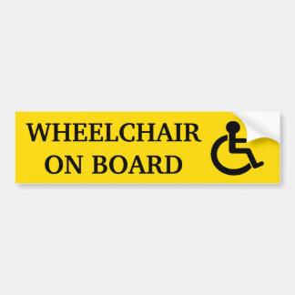 Rollstuhl an Bord des Autoaufklebers Autoaufkleber