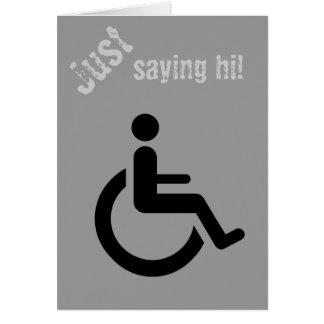 Rollstuhl-Zugang - Handikap-Stuhl-Symbol Karte