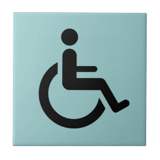 Rollstuhl-Zugang - Handikap-Stuhl-Symbol Keramikfliese