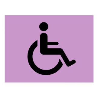 Rollstuhl-Zugang - Handikap-Stuhl-Symbol Postkarte