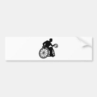 Rollstuhlbasketball Autoaufkleber