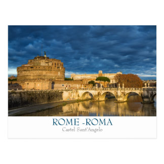 Rom- - CastelSant'Angelo Postkarte mit Text