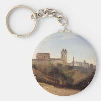 Rom, die Trinita dei Monti Ansicht von den Gärten Schlüsselanhänger