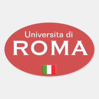 Rom-Hochschuleuropäeraufkleber Ovaler Aufkleber
