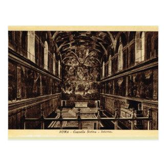 Rom innerhalb der Sistine Kapelle Postkarte