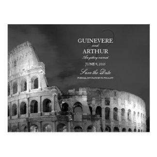 Rom Italien Colosseum, das Save the Date Wedding Postkarte