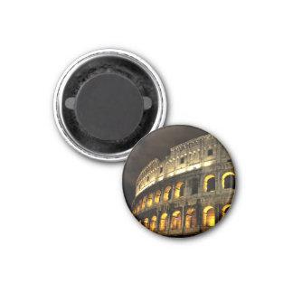 Rom - Kolosseum am Nachtmagneten Runder Magnet 2,5 Cm