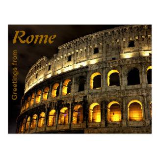 Rom - Kolosseum nachts Postkarte