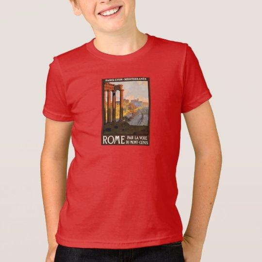 Rom-Sonnenuntergang-Vintages Reise-Plakat T-Shirt