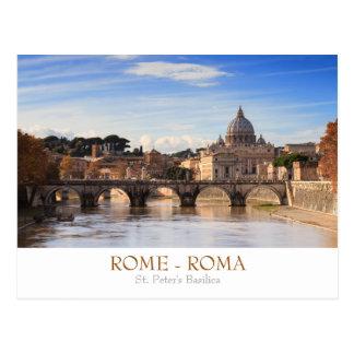 Rom- - St Peterbasilikapostkarte mit Text Postkarte