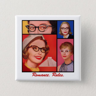 Romance. Regeln Quadratischer Button 5,1 Cm