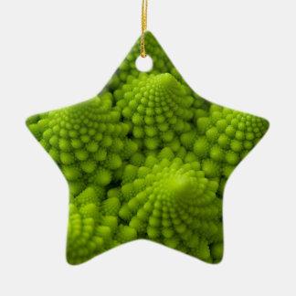 Romanesco Brokkoli-Fraktal-Gemüse Keramik Ornament