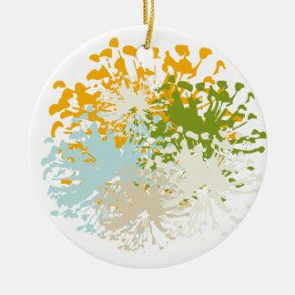 Romantic Flower Rundes Keramik Ornament