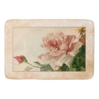 Romantische antike rosa Rose Badematte