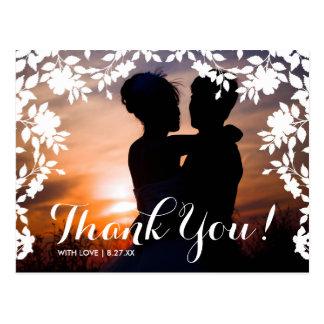 Romantische Blumen-Grenze | danken Ihnen Postkarte