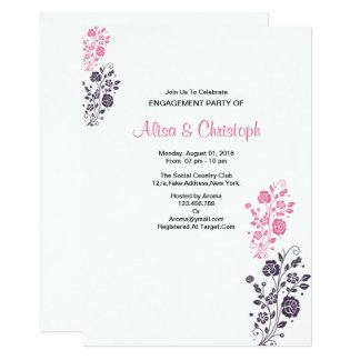 Romantische BlumenVerlobungs-Karte 12,7 X 17,8 Cm Einladungskarte