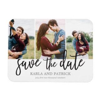 Romantische Foto-Collage des Skript-3 Save the Magnet