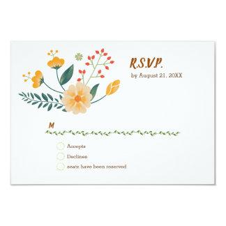 Romantische Füchse und rustikales Blumenlaub UAWG Karte