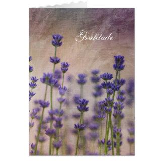 Romantische Garten-Lavendel-Blumen-Dankbarkeit Grußkarte