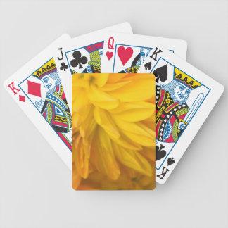 Romantische goldene Dahlie Bicycle Spielkarten