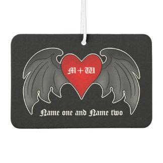 Romantische goth Herz | Valentinsgrüße+Tag Autolufterfrischer