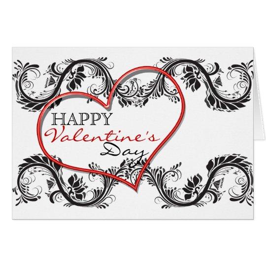 """Romantische Herz-Liebe """"glücklicher des Valentines Grußkarte"""
