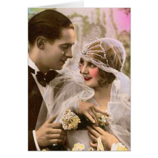 Romantische Hochzeit Grußkarte
