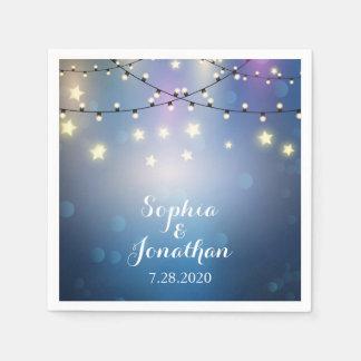 Romantische Hochzeits-Funkeln-Schnur-Lichter im Serviette