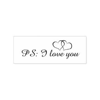 Romantische Liebe PS I Sie Herzen Gummistempel