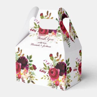 Romantische magentarote Blumenstrauß-Hochzeit Geschenkschachtel